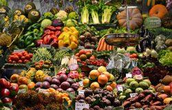 Healthy fruit and veggies