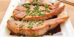 Cooked salmon dish high in Vitamin B12